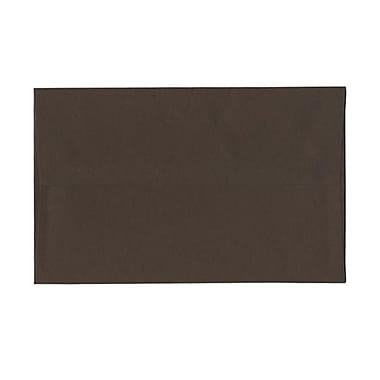 JAM Paper® A10 Invitation Envelopes, 6 x 9.5, Chocolate Brown Recycled, 100/Pack (233713g)