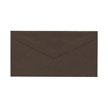JAM Paper® Monarch Envelopes, 3.88 x 7.5, Chocolate Brown Recycled, 100/Pack (34097602g)