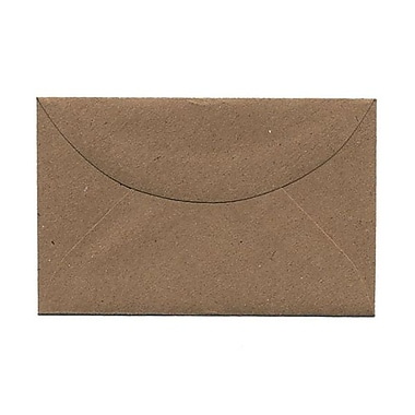 JAM Paper® 3drug Mini Small Envelopes, 2 5/16 x 3 5/8, Brown Kraft Paper Bag Recycled, 25/pack (5207691)