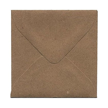 JAM Paper® 3 1/8in. x 3 1/8in. Square Kraft Paper Bag 100% Recycled Envelopes w/Gum Closure, Brown, 1000/Pack