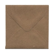 JAM Paper® 3 1/8 x 3 1/8 Square Kraft Paper Bag 100% Recycled Envelopes w/Gum Closure, Brown, 1000/Pack