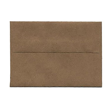 JAM Paper® 3 5/8in. x 5 1/8in. Booklet Kraft Paper Bag 100% Recycled Envelopes w/Gum Closure, Brown, 25/Pack