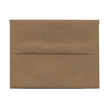 JAM Paper® A2 Invitation Envelopes, 4.38 x 5.75, Brown Kraft Paper Bag Recycled , 100/Pack (LEKR600g)