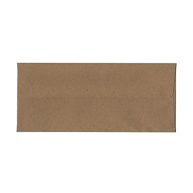JAM Paper® 4 1/8in. x 9 1/2in. Booklet #10 Envelopes w/Gum Closure, Recycled Brown Kraft, 1000/Pack