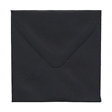 JAM Paper® 3.125 x 3.125 Mini Square Envelopes, Black Linen Recycled, 100/Pack (v01200g)