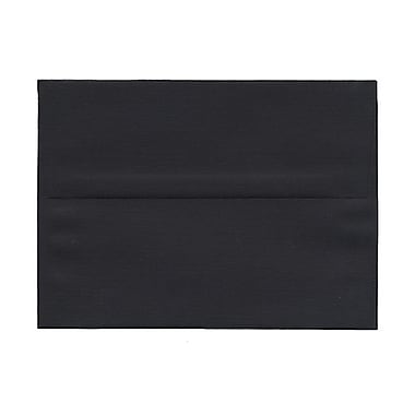 JAM Paper® A7 Invitation Envelopes, 5.25 x 7.25, Black Linen Recycled, 100/Pack (v01205g)