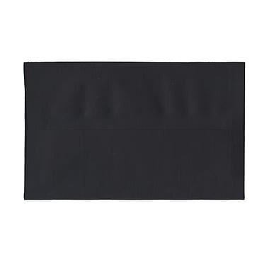 JAM Paper® A10 Invitation Envelopes, 6 x 9.5s, Black Linen Recycled, 100/Pack (36168g)