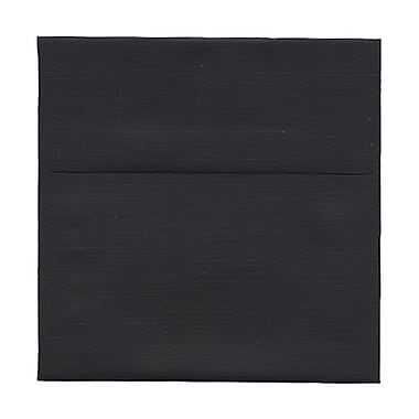 JAM Paper® 5in. x 5in. Square Linen Envelopes w/Gum Closure, Black, 25/Pack