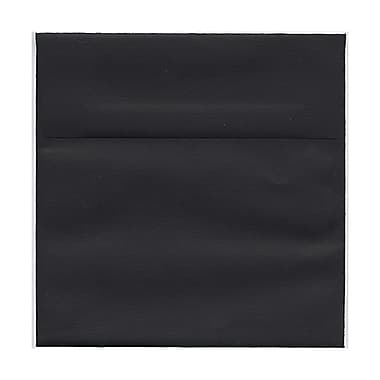 JAM Paper® 6in. x 6in. Square Linen Envelopes w/Gum Closure, Black, 25/Pack