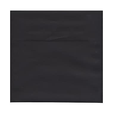 JAM Paper® 9.5 x 9.5 Square Envelopes, Black Linen Recycled, 100/Pack (v01216g)