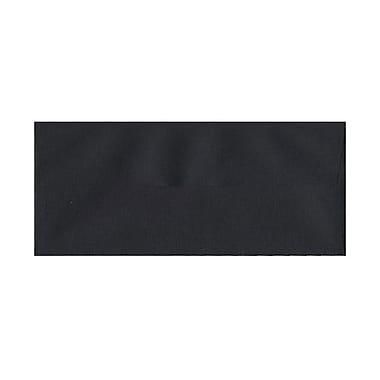JAM Paper® 4 1/8in. x 9 1/2in. Booklet Linen #10 Envelopes w/Gum Closure, Black, 25/Pack