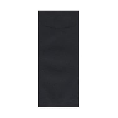 JAM Paper® #12 Policy Envelopes, 4.75 x 11, Black Linen Recycled, 1000/Pack (V01220B)
