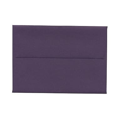 JAM Paper® 4bar A1 Envelopes, 3.63 x 5 1/8, Dark Purple, 100/Pack (563912502g)