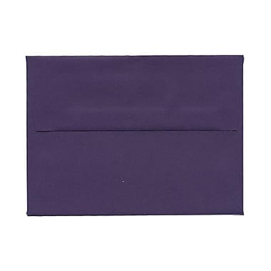 JAM Paper® A6 Invitation Envelopes, 4.75 x 6.5, Dark Purple, 100/Pack (157465g)