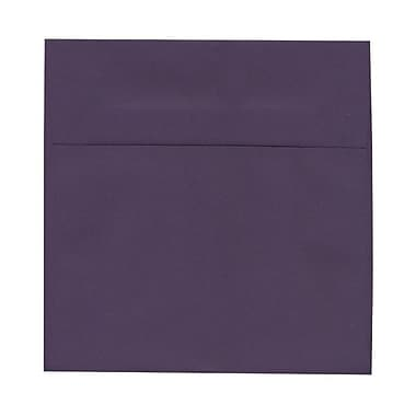 JAM Paper® 8.5 x 8.5 Square Envelopes, Dark Purple, 100/Pack (563912527g)