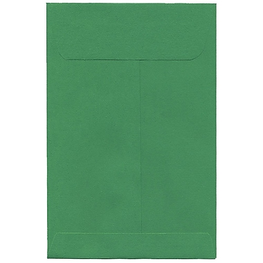 JAM Paper® 6 x 9 Open End Catalog Envelopes with Clasp Closure, Brite Hue Green Recycled, 100/Pack (87923)
