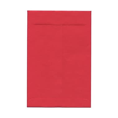 JAM Paper® 6 x 9 Open End Catalog Envelopes with Clasp Closure, Brite Hue Red Recycled, 100/Pack (87881)