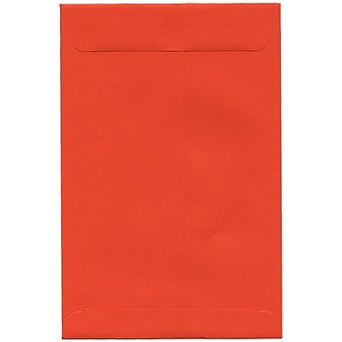 JAM Paper® 6 x 9 Open End Catalog Envelopes, Brite Hue Orange Recycled, 100/Pack (88129)
