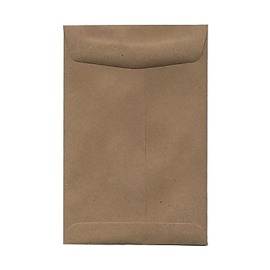 JAM Paper® 6 x 9 Open End Catalog Envelopes, Brown Kraft Paper Bag Recycled, 100/Pack (51286524)