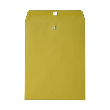 JAM Paper® 9 x 12 Open End Catalog Envelopes with Clasp Closure, Brite Hue Yellow Recycled, 100/pack (92953)