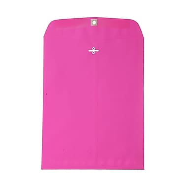 JAM Paper® 10in. x 13in. Open End Catalog Clasp Paper Envelopes, Ultra Fuchsia Pink, 100/Box