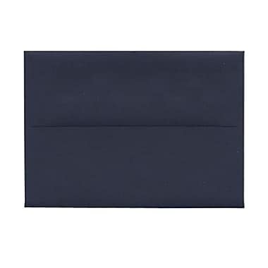 JAM Paper® 4bar A1 Envelopes, 3.63 x 5 1/8, Navy Blue, 100/Pack (LEBA917g)