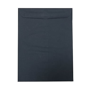 JAM Paper® 9in. x 12in. Open End Envelopes w/Gum Closure, Navy Blue, 1000/Pack