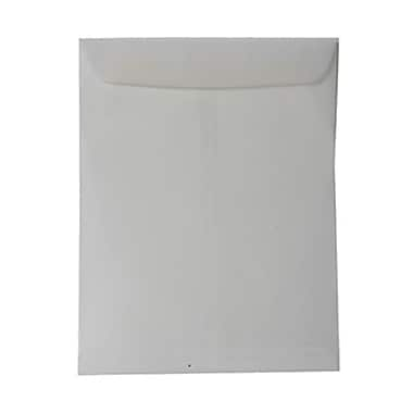 JAM Paper® 10in. x 13in. Open End Translucent Vellum Envelopes w/Gum Closure, Clear, 25/Pack