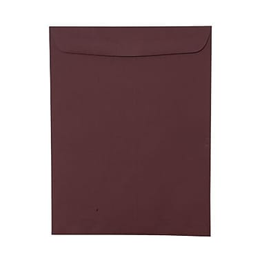 JAM Paper® 9 x 12 Open End Catalog Envelopes, Burgundy, 100/Pack (21285781)