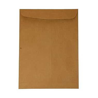 JAM Paper® 10in. x 13in. Texture Open End Catalog Kraft Bag Envelopes, Brown, 100/Box