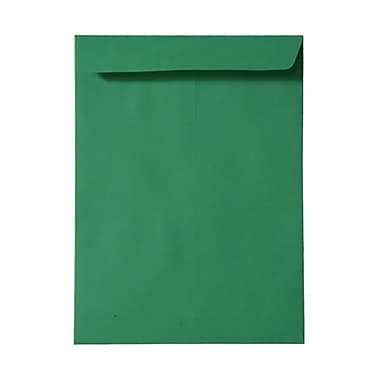 JAM Paper® 10 x 13 Open End Catalog Envelopes, Brite Hue Green Recycled, 100/Pack (V0128190)