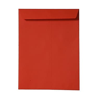 JAM Paper® 10 x 13 Open End Catalog Envelopes, Brite Hue Orange Recycled, 100/Pack (87766)