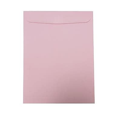 JAM Paper® 10in. x 13in. Open End Catalog Envelope With Gum Closure, Baby Pink, 10/Pack