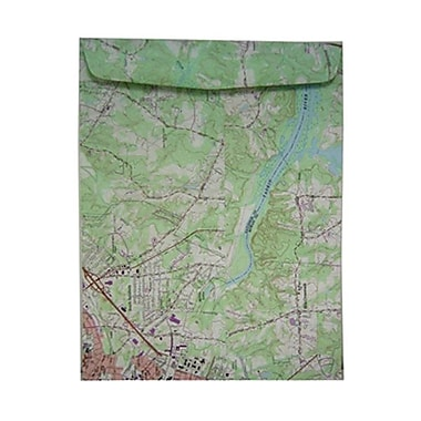 JAM Paper® 10 x 13 Open End Catalog Envelopes, Made with Real Surplus Map, 100/Pack (163733C)