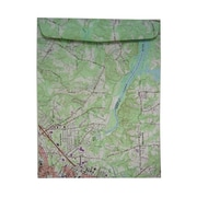JAM Paper® 10 x 13 Texture Open End Catalog Envelopes, Map, 100/Box