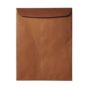 JAM Paper® 10 x 13 Open End Catalog Envelopes, Stardream Metallic Copper, 100/Pack (V018327)