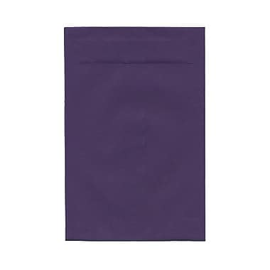 JAM Paper® 6in. x 9in. Open End Envelopes w/Gum Closure, Dark Purple, 100/Pack