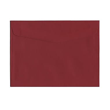 JAM Paper® 6in. x 9in. Texture Booklet Envelopes, Dark Red, 1000/Pack