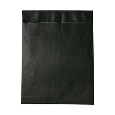 JAM Paper® 10 x 13 Tyvek Envelopes, Catalog Open End with Self Adhesive Closure, Black, 25/pack (V021376)