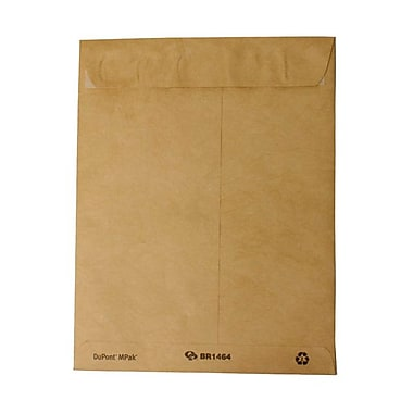 JAM Paper® 9in. x 11 1/2in. Open End Tyvek Envelopes w/Peal & Seal Closure, Bamboo, 25/Pack