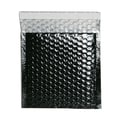 JAM Paper® 6in. x 6 1/2in. Square Open Metallic Bubble Envelopes w/Peel and Seal Closure, Black, 12/Pack