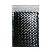 JAM Paper® 6.38 x 9 1/2 Open End Metallic Bubble Envelopes w/Peel and Seal Closure, Black, 12/Pack