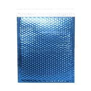 JAM Paper® Bubble Mailers with Peel and Seal Closure, 10 x 13, Blue Metallic, 12/pack (2745205)