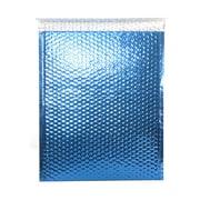 "JAM Paper® 12"" x 15 1/2"" Open End Metallic Bubble Envelopes w/Peel and Seal Closure, Blue, 12/Pack"