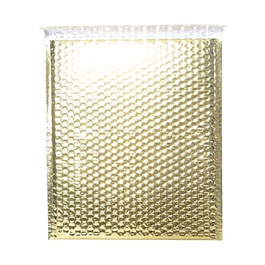 JAM Paper® 10in. x 13in. Open End Metallic Bubble Envelopes w/Peel and Seal Closure, Gold, 12/Pack