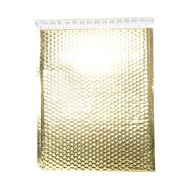 JAM Paper® 12in. x 15 1/2in. Open End Metallic Bubble Envelopes w/Peel and Seal Closure, Gold, 12/Pack