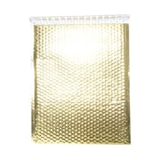 "JAM Paper® 12"" x 15 1/2"" Open End Metallic Bubble Envelopes w/Peel and Seal Closure, Gold, 12/Pack"