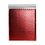 JAM Paper® Bubble Mailers with Peel and Seal Closure, 10 x 13, Red Metallic, 12/pack (2744438)