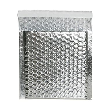 JAM Paper® 6in. x 6 1/2in. Square Open Metallic Bubble Envelopes w/Peel and Seal Closure, Silver, 12/Pack