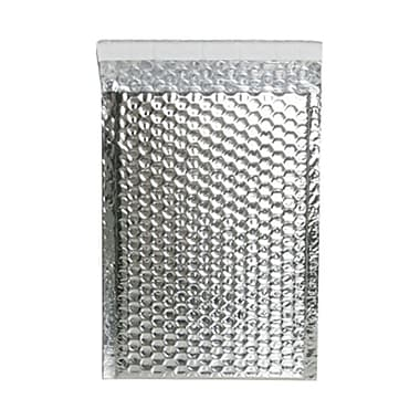 JAM Paper® 6.38in. x 9.5in. Open End Metallic Bubble Envelopes w/Peel and Seal Closure, Silver, 12/Pack